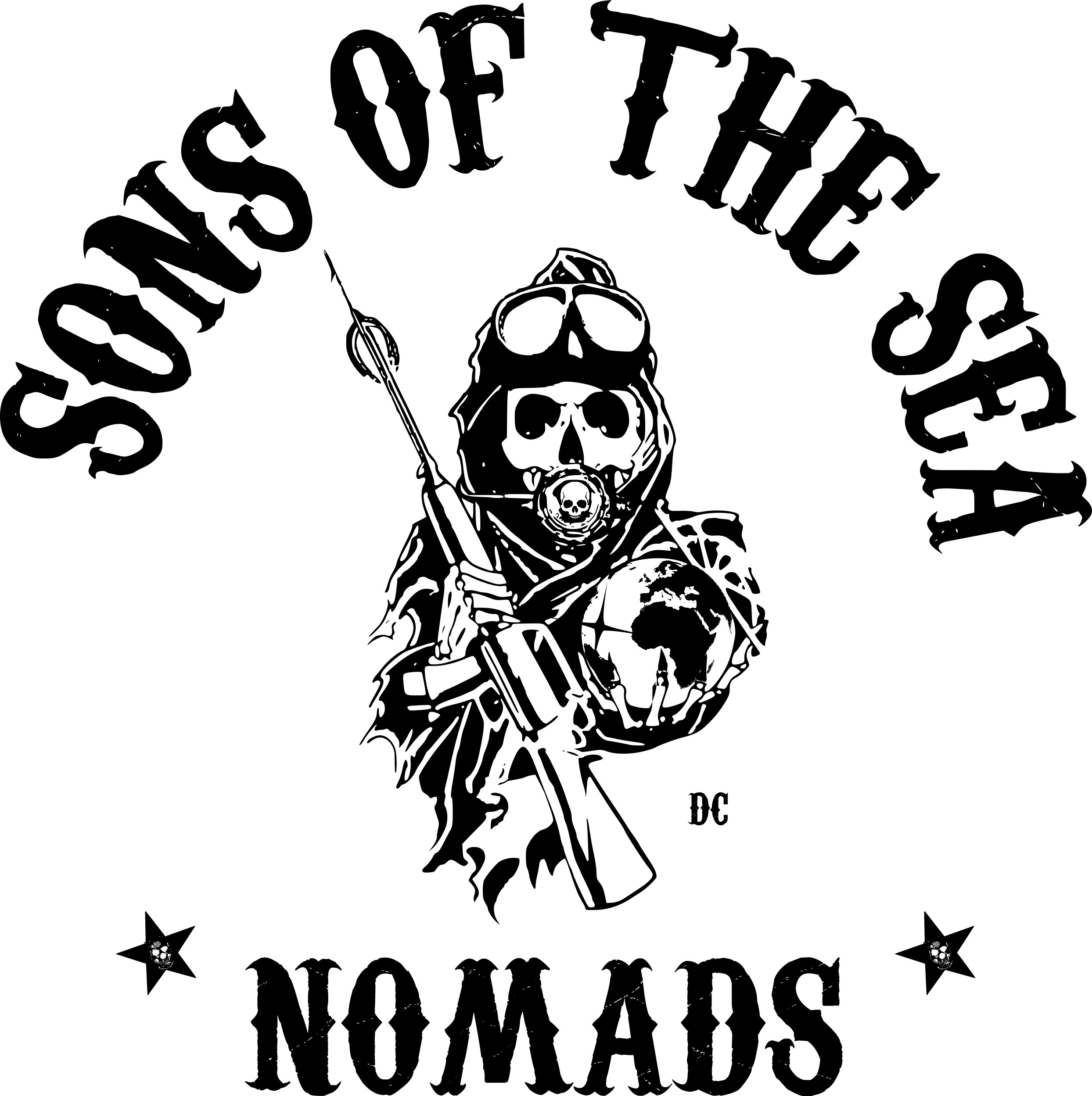 new Sons of the Sea nomads on white